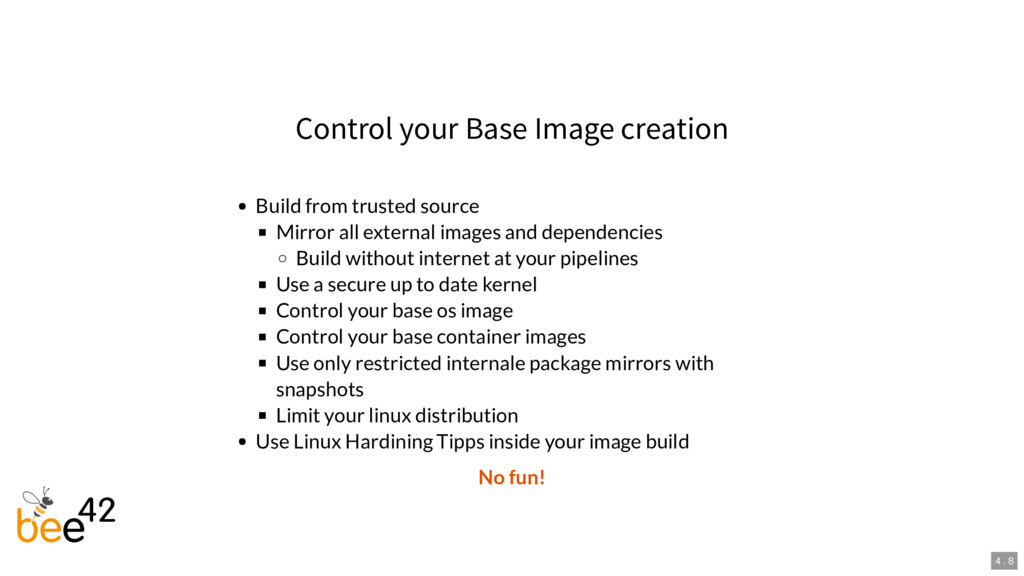 Control your Base Image creation Build from tru...
