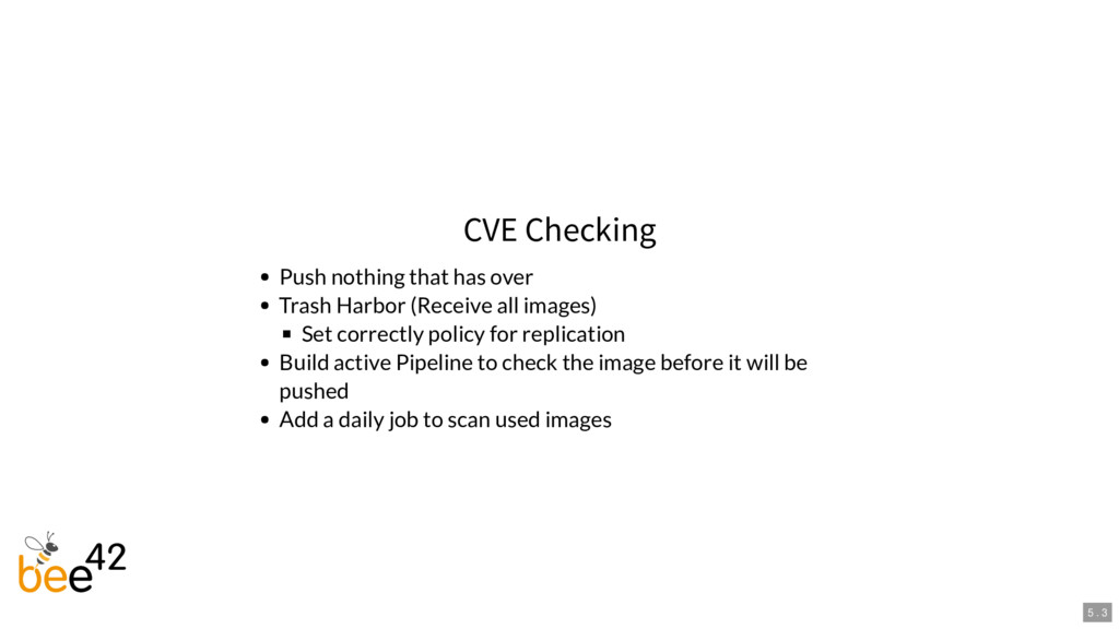 CVE Checking Push nothing that has over Trash H...