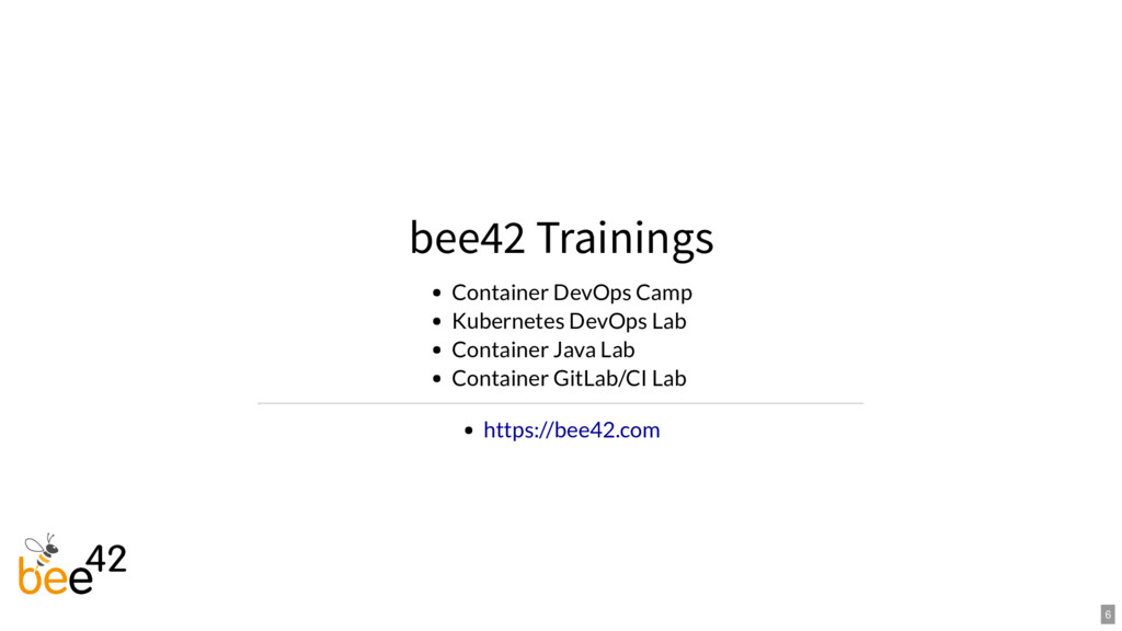 bee42 Trainings Container DevOps Camp Kubernete...