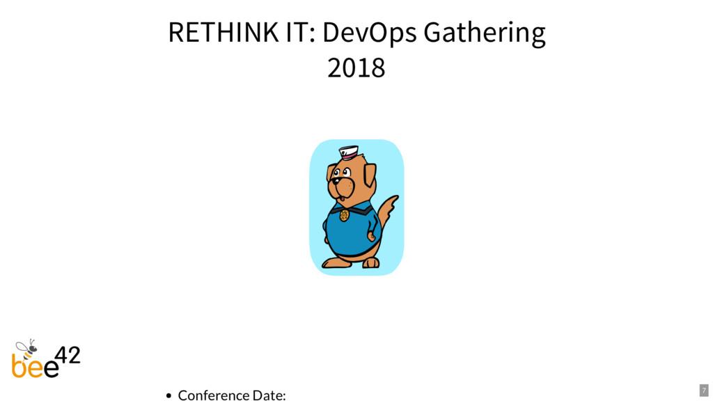 RETHINK IT: DevOps Gathering 2018 Conference Da...