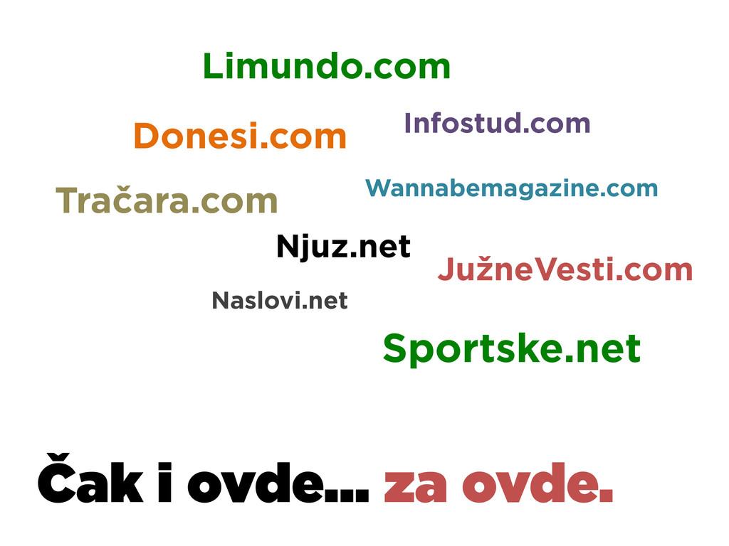 Čak i ovde... za ovde. Donesi.com Limundo.com I...