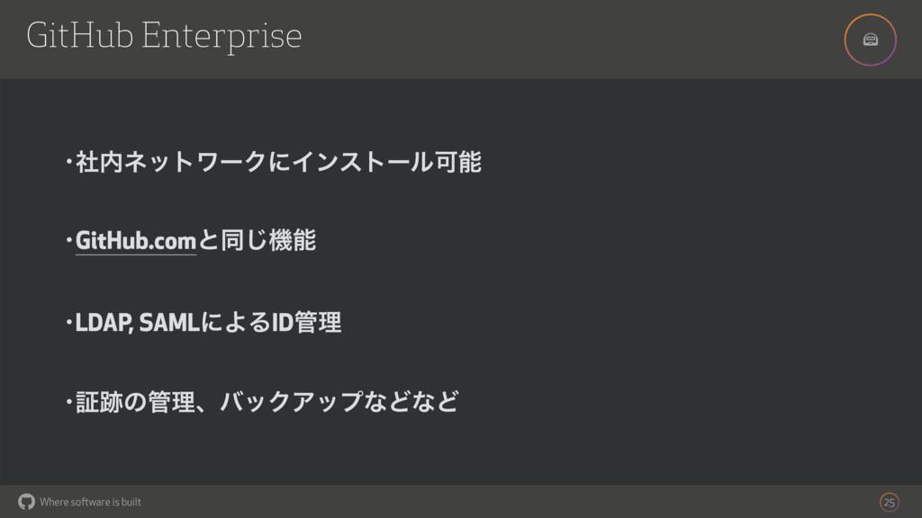 ! Where software is built GitHub Enterprise 25 ...