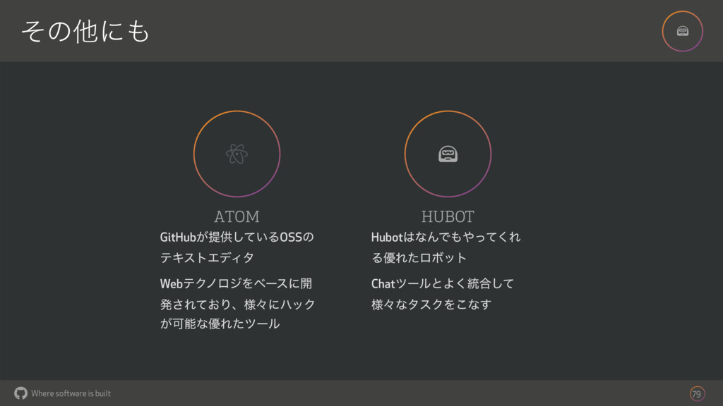 ! Where software is built ͦͷଞʹ 79 ! ATOM GitHu...
