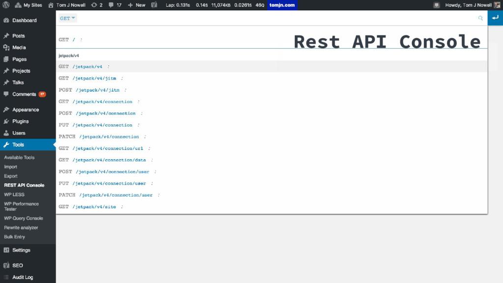 Rest API Console