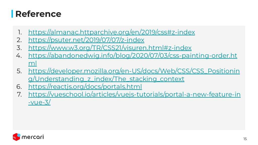 15 Reference 1. https://almanac.httparchive.org...