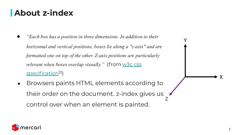 "3 ● ""Each box has a position in three dimension..."