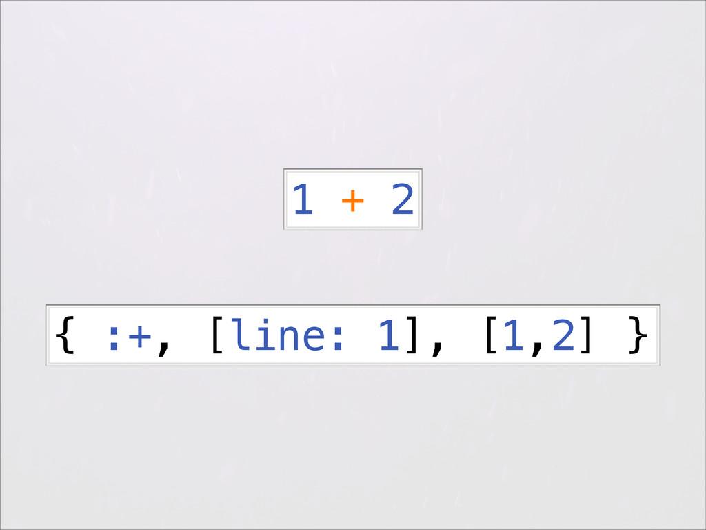 { :+, [line: 1], [1,2] } 1 + 2