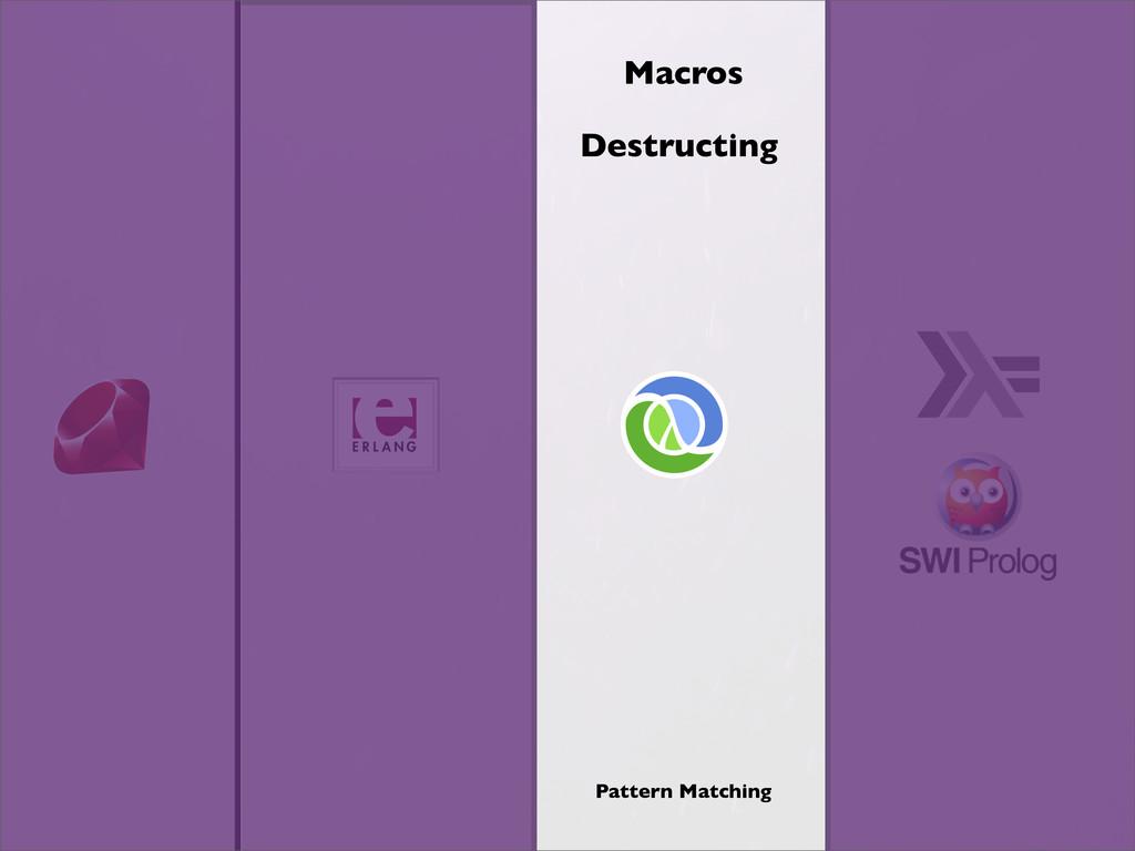 Macros Destructing Pattern Matching