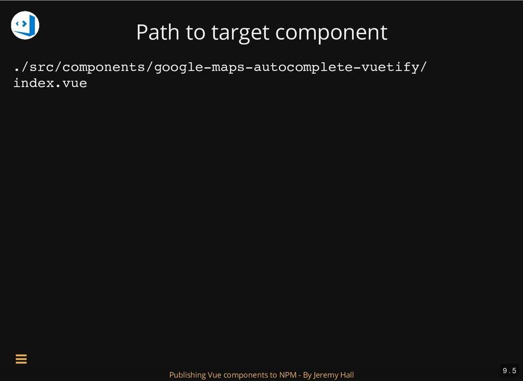 Path to target component ./src/components/googl...