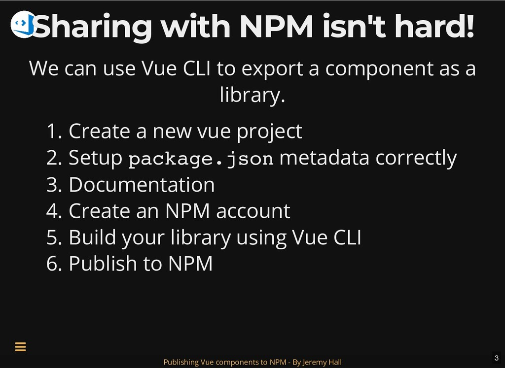 Sharing with NPM isn't hard! Sharing with NPM i...