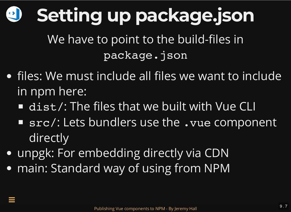 Setting up package.json Setting up package.json...