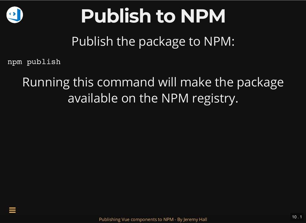 Publish to NPM Publish to NPM Publish the packa...