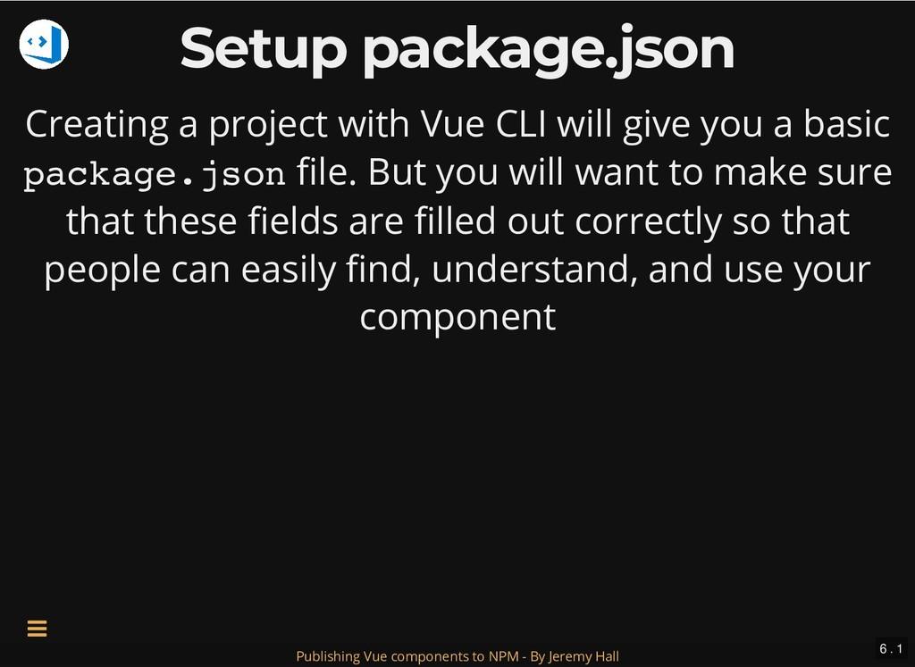Setup package.json Setup package.json Creating ...