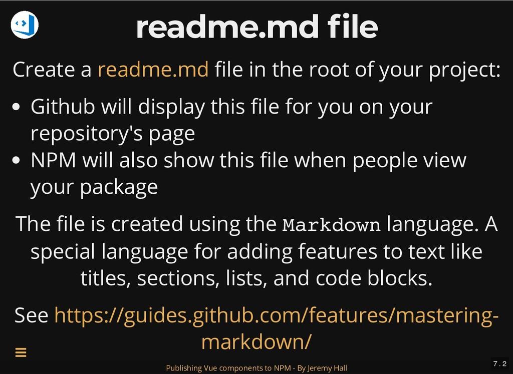readme.md file readme.md file Create a le in th...