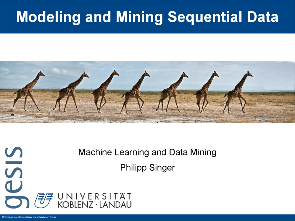 Modeling and Mining Sequential Data Machine Lea...