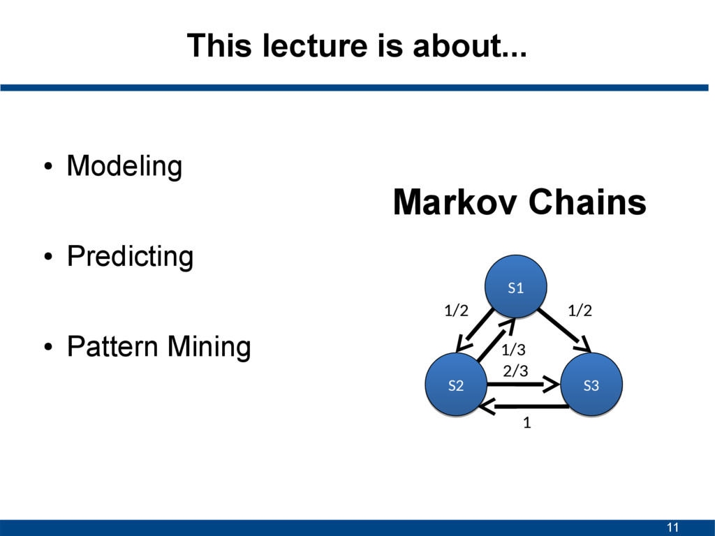 11 This lecture is about... ● Modeling ● Predic...