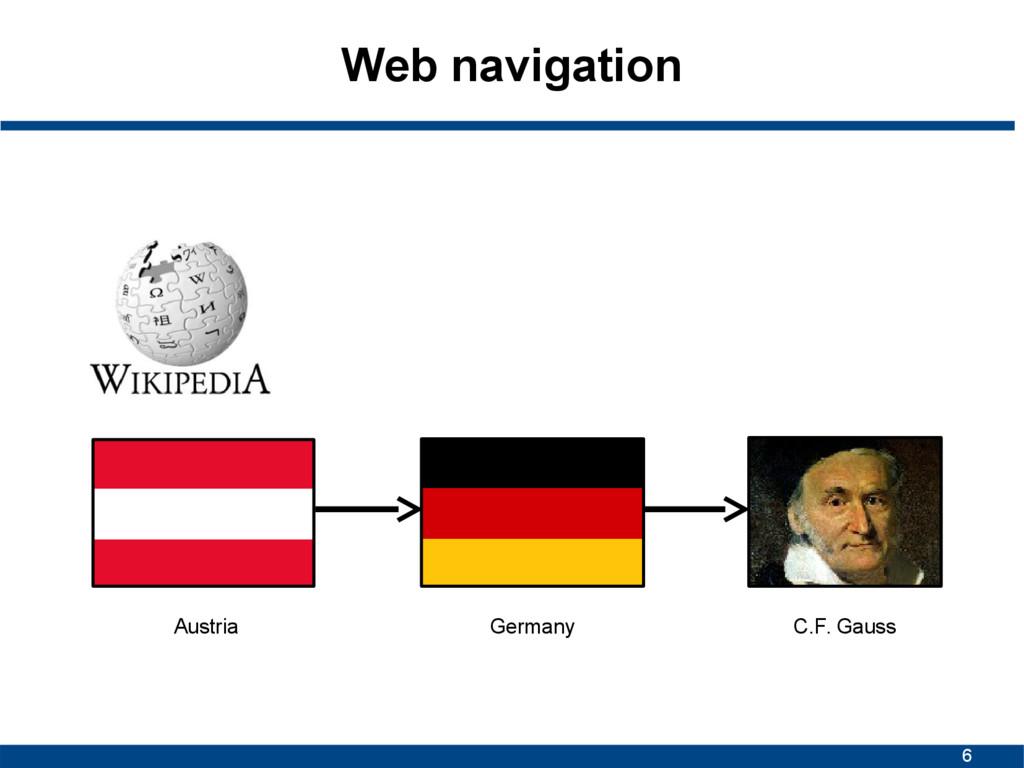 6 Web navigation Austria Germany C.F. Gauss