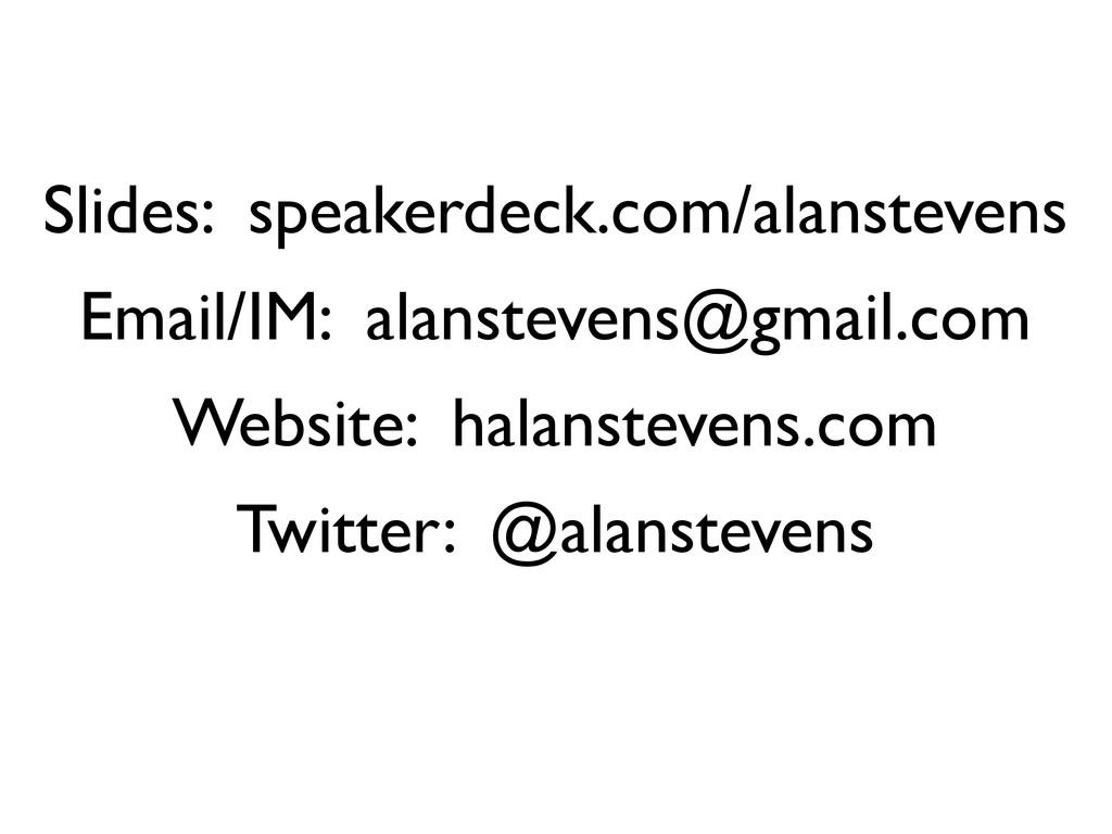 Thanks For Listening! Slides: speakerdeck.com/a...