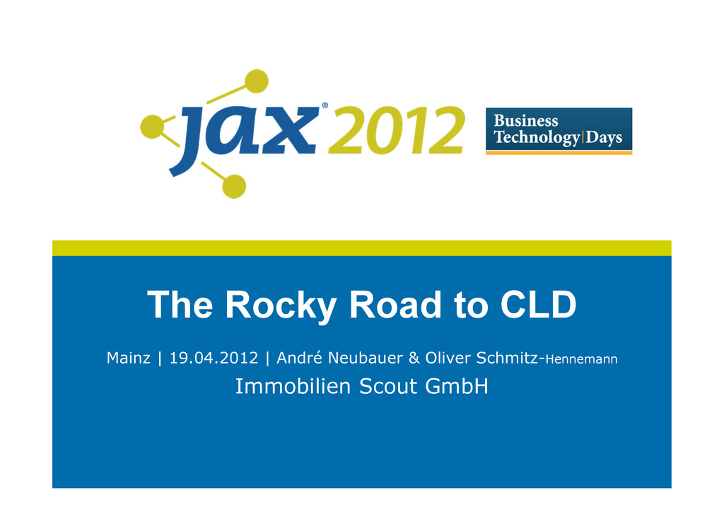 The Rocky Road to CLD Mainz | 19.04.2012 | Andr...