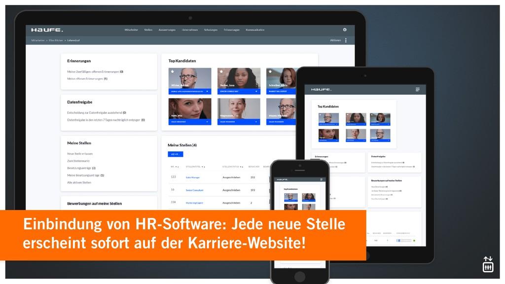 Einbindung von HR-Software: Jede neue Stelle er...