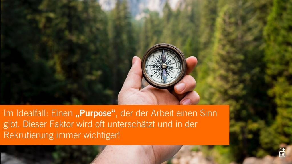 """Im Idealfall: Einen """"Purpose"""", der der Arbeit e..."""