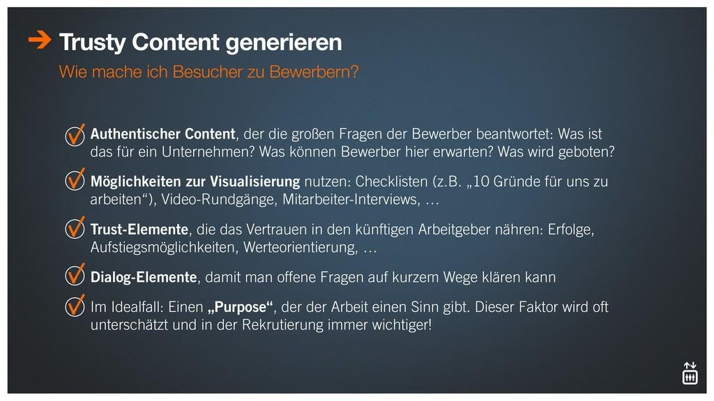 Trusty Content generieren Wie mache ich Besuche...