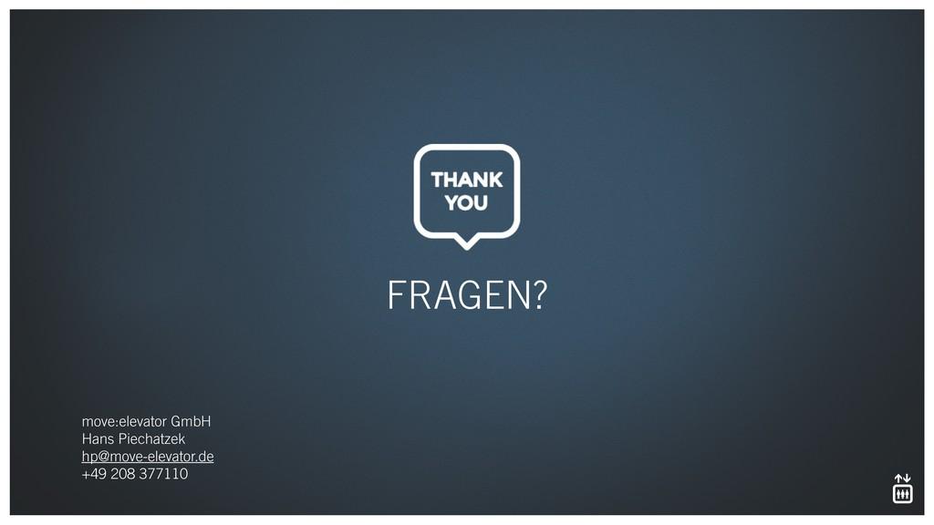 FRAGEN? move:elevator GmbH Hans Piechatzek hp...