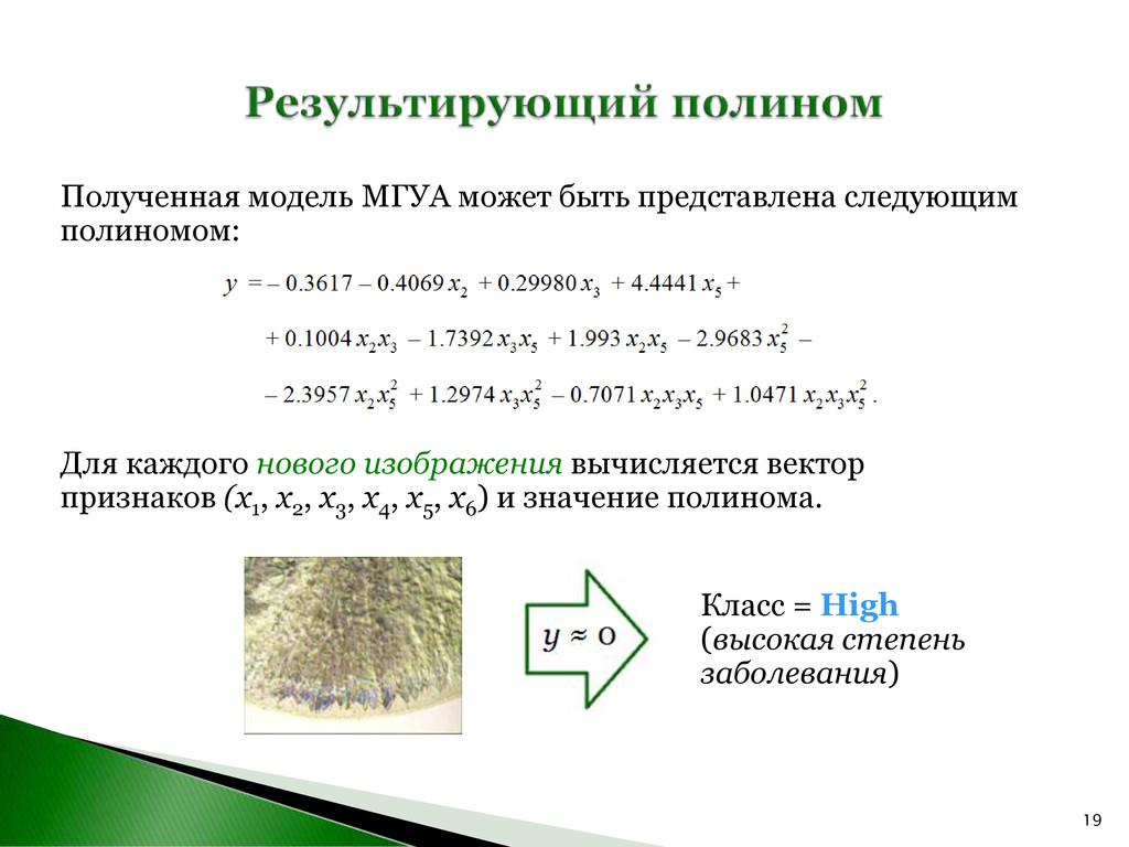 19 Полученная модель МГУА может быть представле...