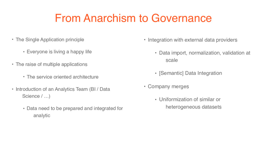 From Anarchism to Governance • The Single Appli...