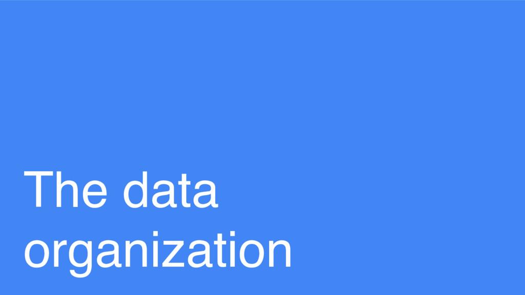 The data organization
