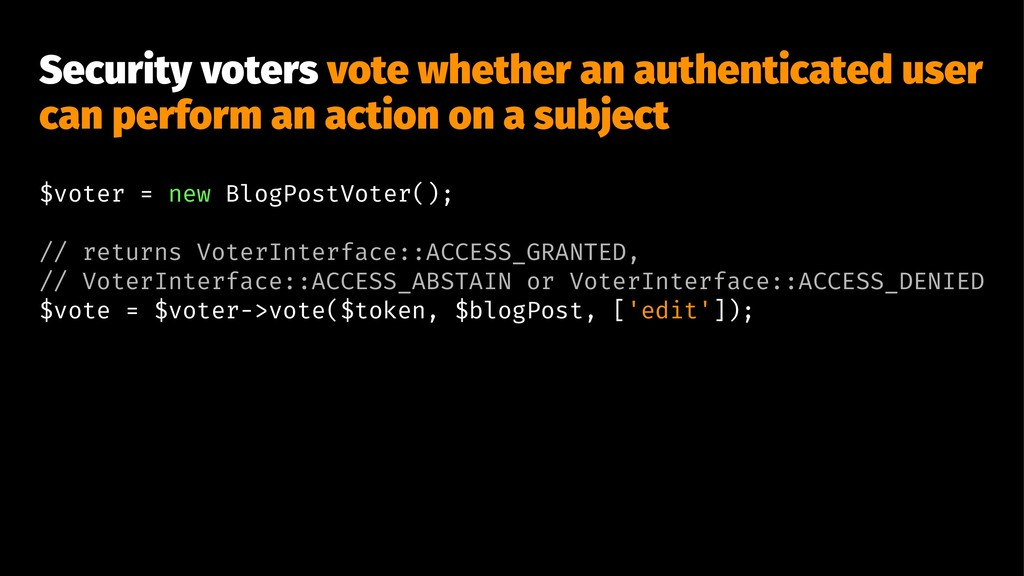 Security voters vote whether an authenticated u...