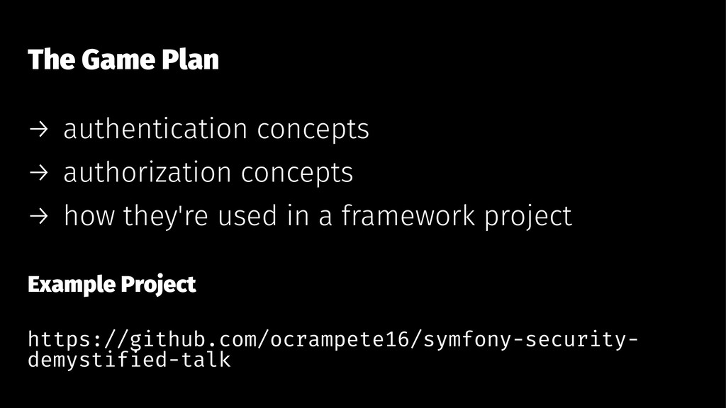 The Game Plan → authentication concepts → autho...