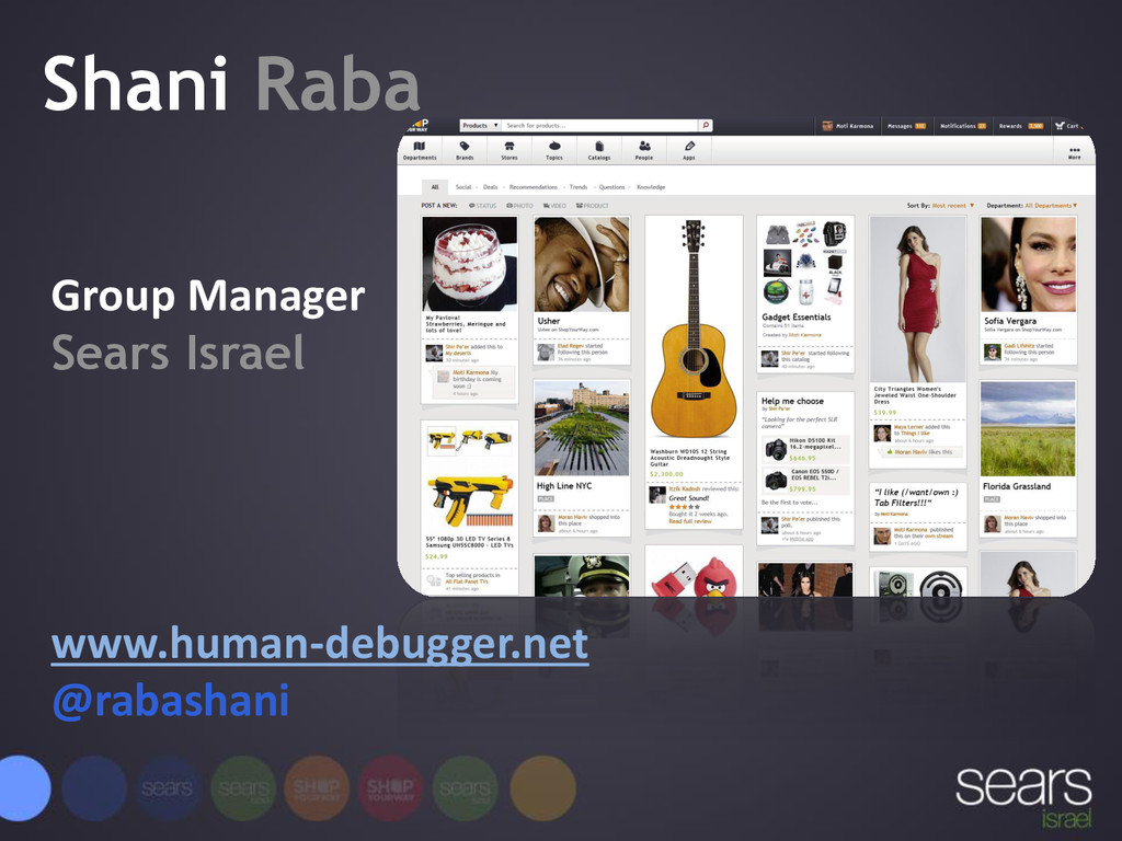 Shani Raba Group Manager Sears Israel www.human...