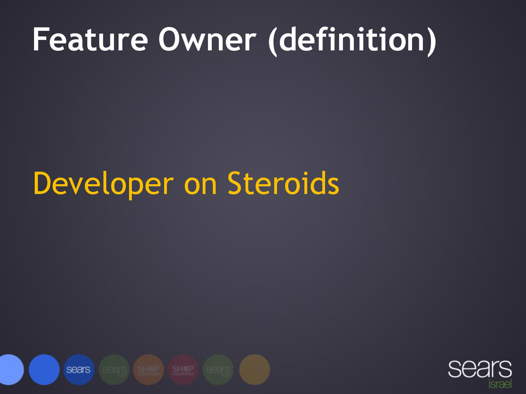 Feature Owner (definition) Developer on Steroids