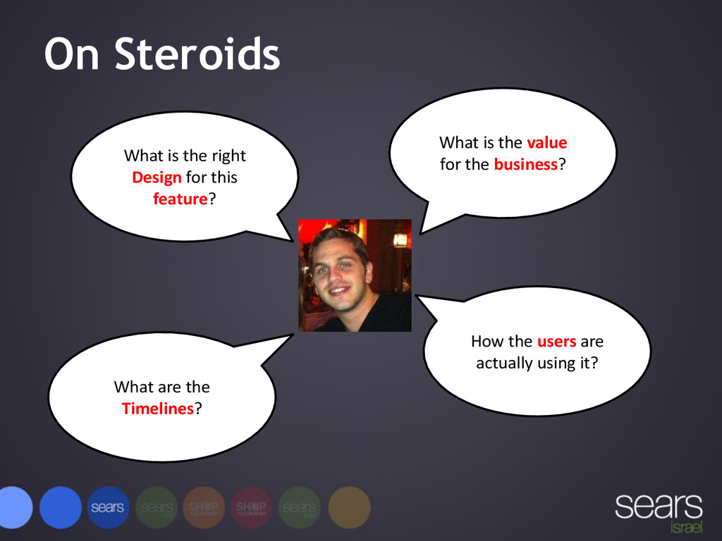 On Steroids What is the value for the business?...