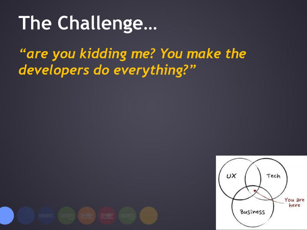 """The Challenge… """"are you kidding me? You make th..."""