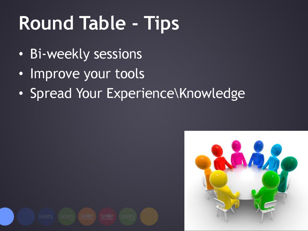 Round Table - Tips • Bi-weekly sessions • Impro...