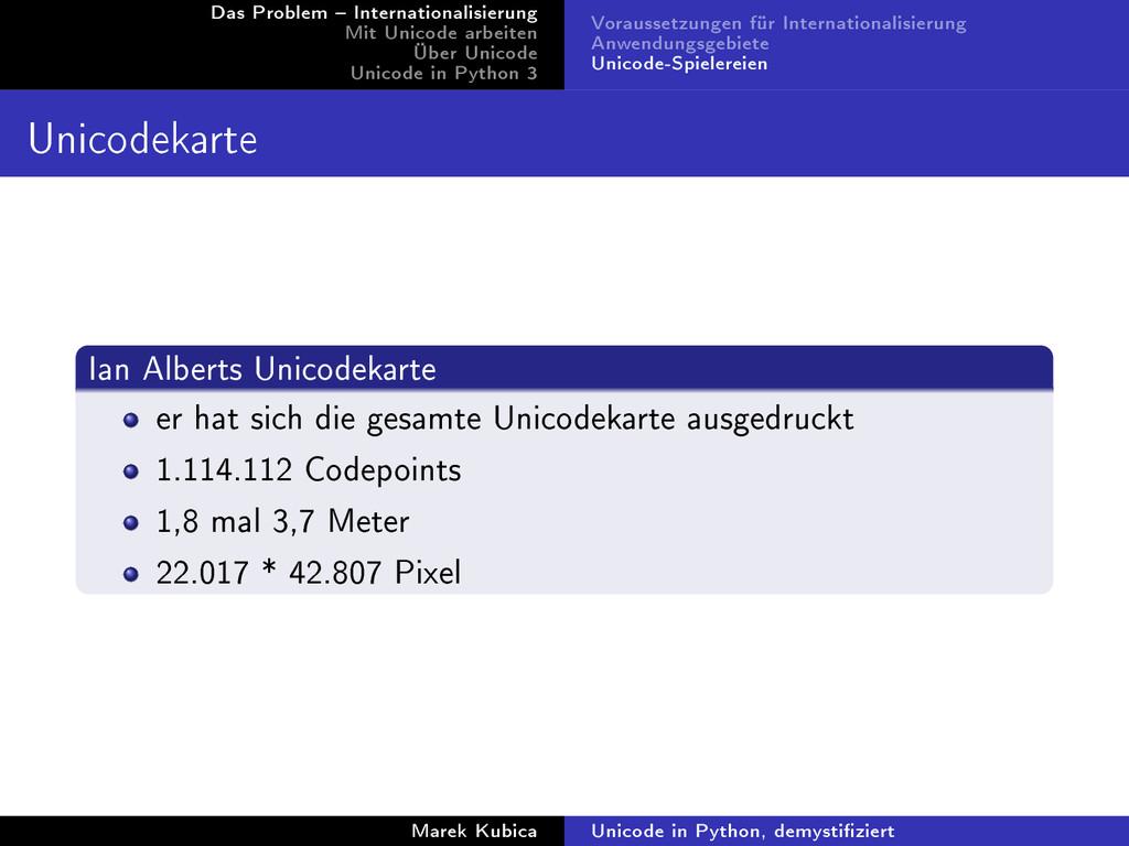 Das Problem  Internationalisierung Mit Unicode...
