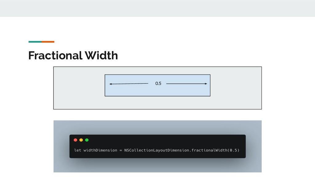 Fractional Width 0.5