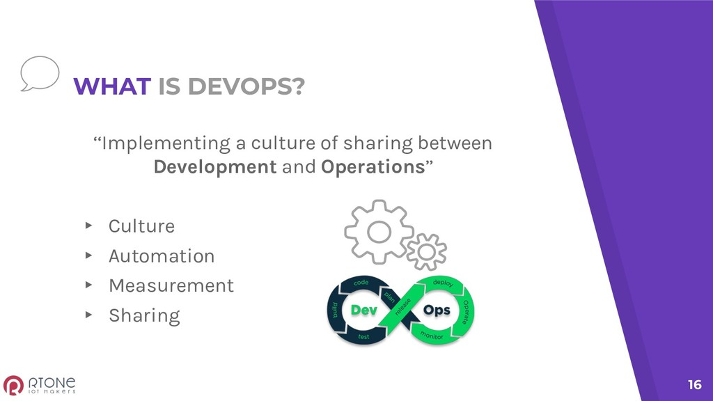 WHAT IS DEVOPS? ''Implementing a culture of sha...