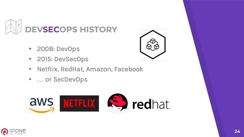 DEVSECOPS HISTORY ▸ 2008: DevOps ▸ 2015: DevSec...