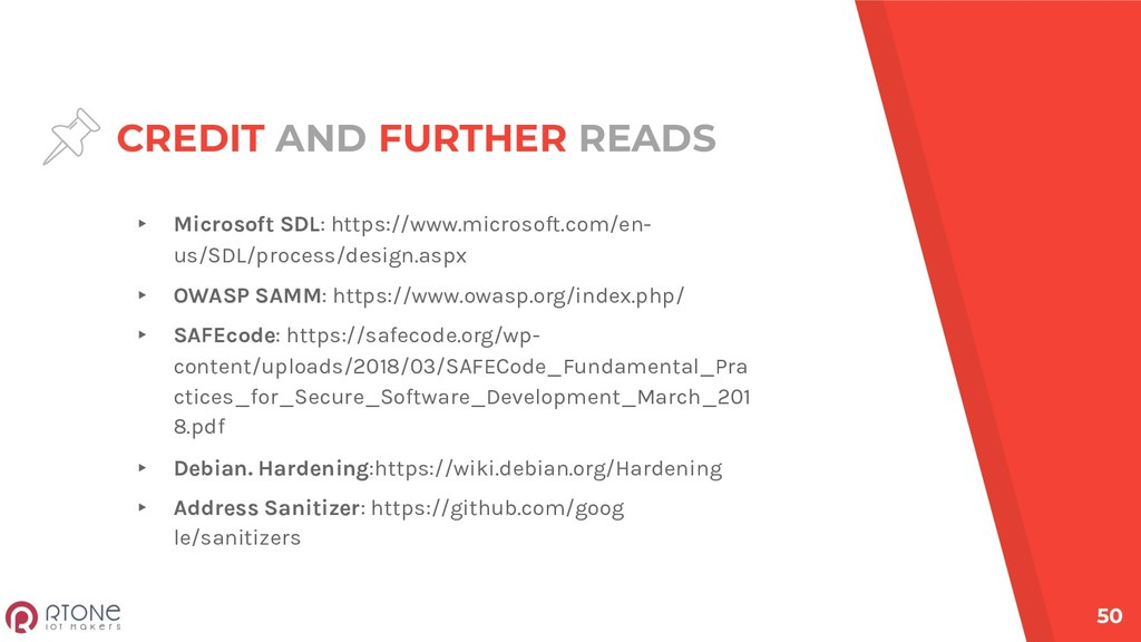 CREDIT AND FURTHER READS ▸ Microsoft SDL: https...