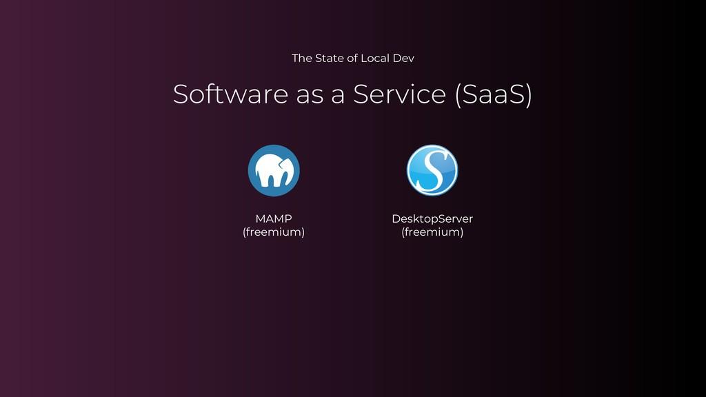 The State of Local Dev MAMP (freemium) DesktopS...