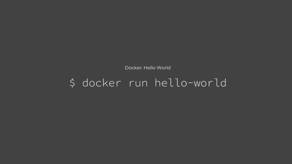 Docker: Hello World