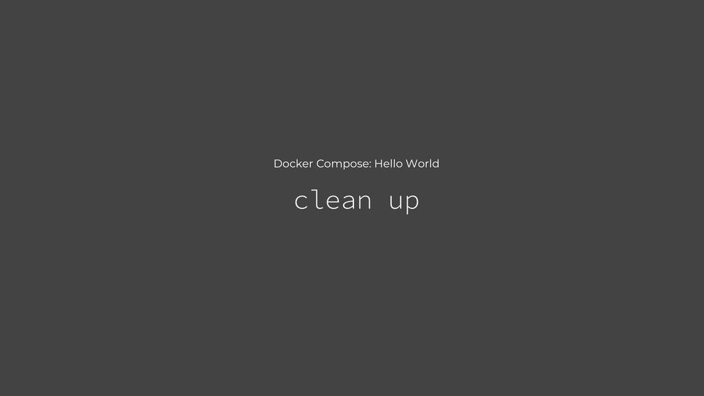 Docker Compose: Hello World