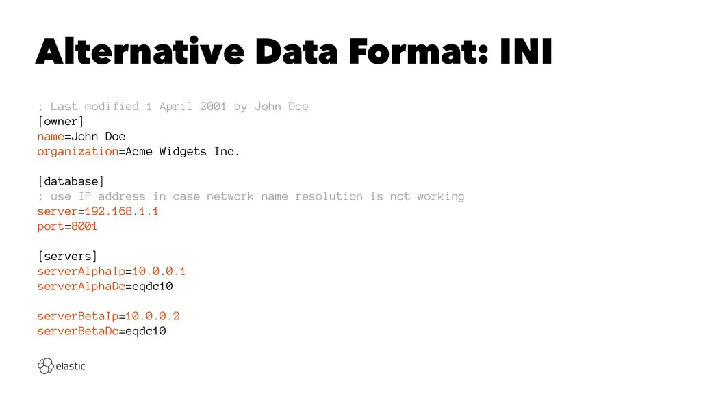 Alternative Data Format: INI ; Last modified 1 ...