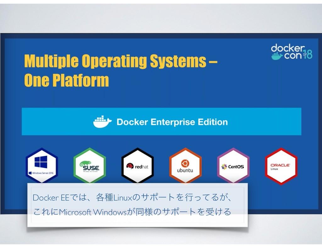 Docker EEͰɺ֤छLinuxͷαϙʔτΛߦͬͯΔ͕ɺ ͜ΕʹMicrosoft Wi...
