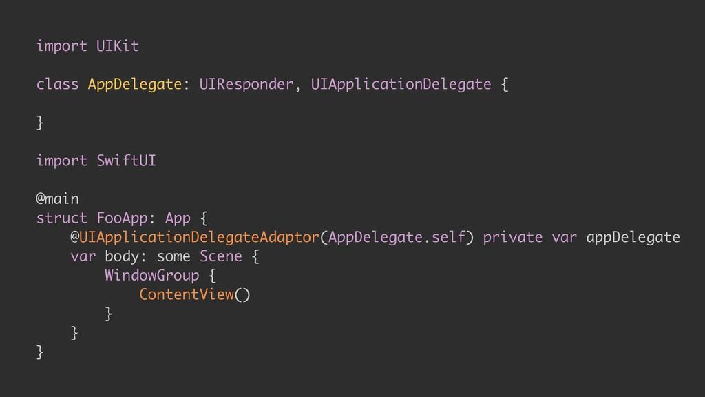 import UIKit class AppDelegate: UIResponder, UI...