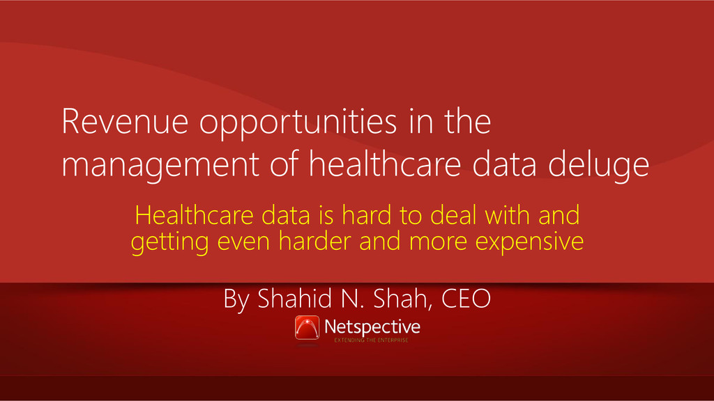 Revenue opportunities in the management of heal...