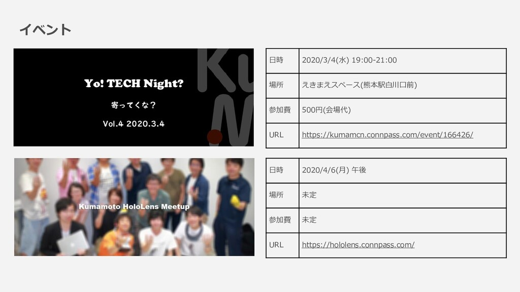 イベント 日時 2020/3/4(水) 19:00-21:00 場所 えきまえスペース(熊本駅...
